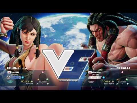 Street Fighter V Tse4 (Chun Li) Vs Westdllm (Necalli) Long Set