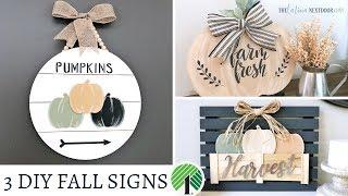 DIY Fall Farmhouse Signs
