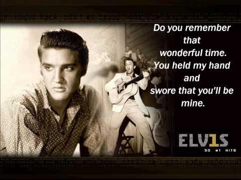 Elvis Presley- Paralyzed (lyrics)