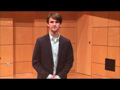 Christian Elias - Baldwin Wallace University - Music Theatre Overtures Audition 2017