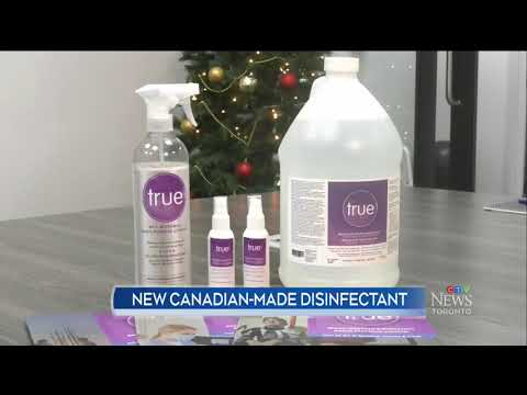 12/16/2020 - Biosenta live on CTV News Toronto with true™ disinfectant targeting COVID-19