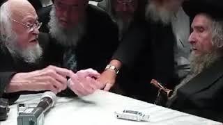 Rav Aharon Leib Shteinman Meeting With Rav Yosef Shalom Elyashiv Zt''l