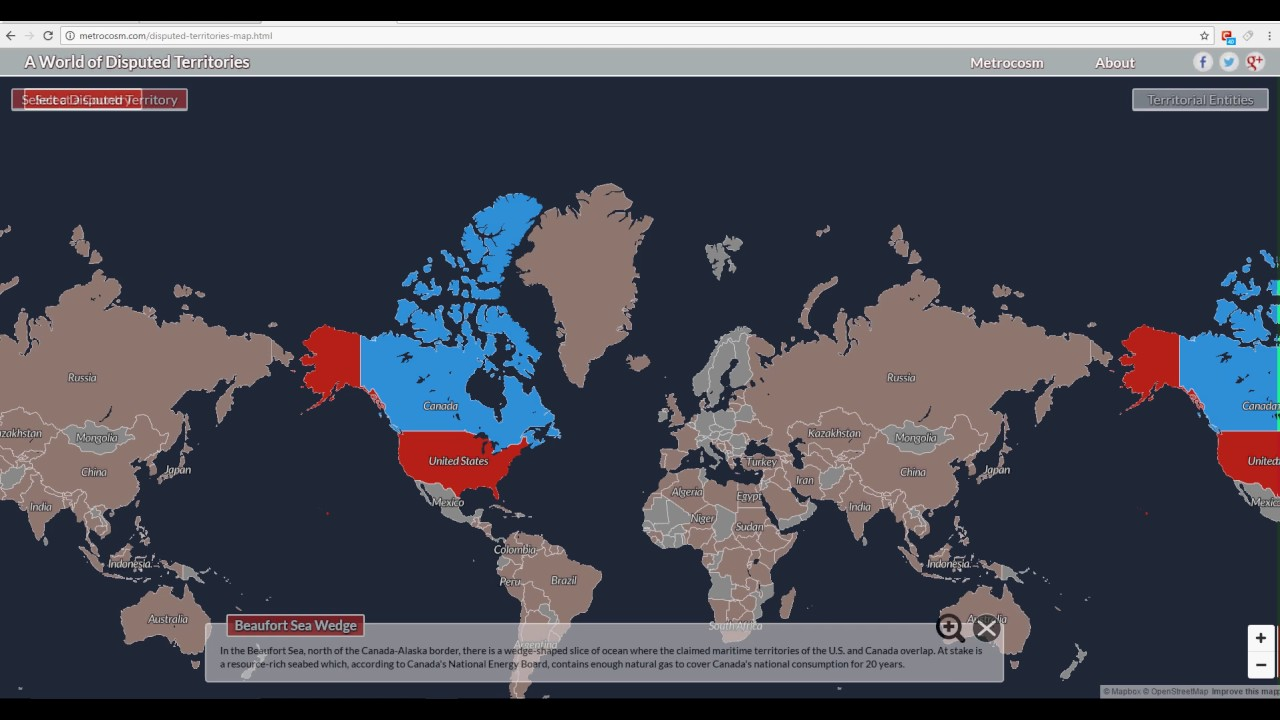 Interactive Map Of Every Disputed Territory In The World YouTube - Ak overlap us map