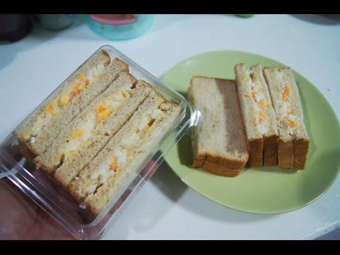 เมนูอาหารเช้าง่ายๆ  แซนวิซไข่น้ำสลัด