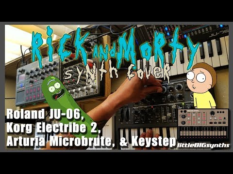 Rick and Morty Theme song | Hardware Synth cover