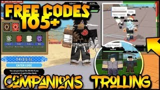 [062] NEW FREE CODES! +105 FREE SPINS!| TROLLING PLAYERS WITH COMPANIONS!| ROBLOX Naruto RPG- Beyond |
