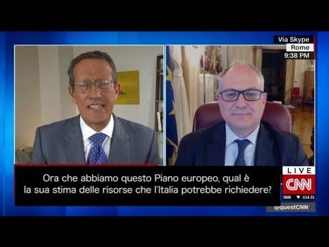 Corriere della Sera: Il ministro Gualtieri alla Cnn: «Il fondo europeo non è la vendetta dell'Italia (ma una vittoria...