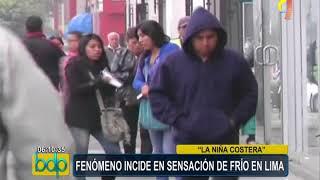 """Fenómeno de """"La Niña Costera"""" incide en sensación de frío en Lima"""