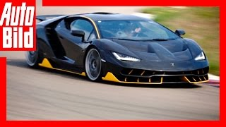 hypersportler Lamborghini Centenario auf der Rennstrecke - Test / Review / Racetrack / Nardo