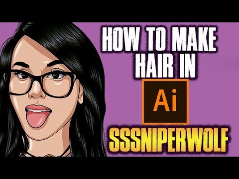 How To Make Hair!- Step By Step / SSSniperWolf Tutorial ( ADOBE ILLUSTRATOR )