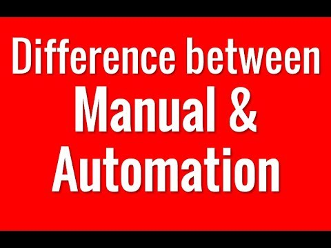 What is the difference between Manual and Automation Testing?