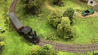 HOn3 Model Railroad Layout with Steam Locomotives and Diesel Locomotives