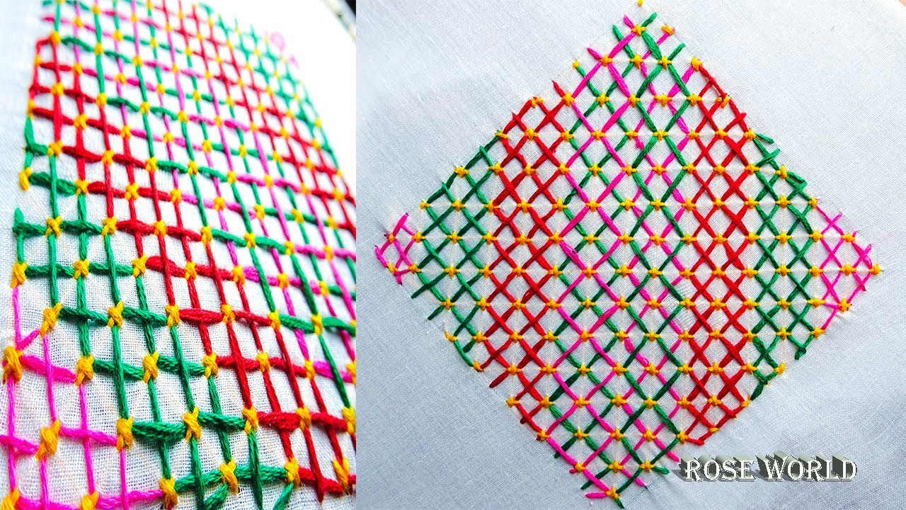 Hand Embroidery New Pattern Design Step By Step Embroidery Nokshi