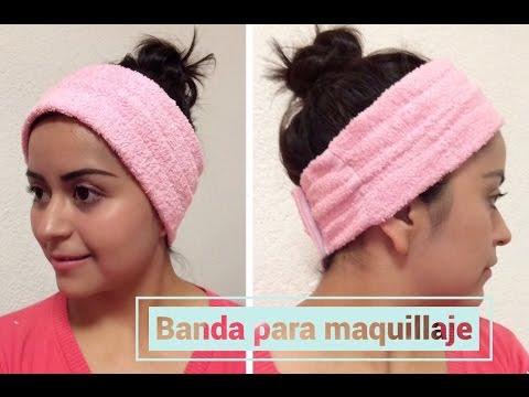 DIY Banda para maquillaje| Diadema para maquillaje| cómo hacer una diadema para maquillaje