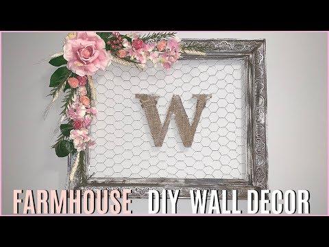 FARMHOUSE SPRING DECOR | DIY Wall Decor