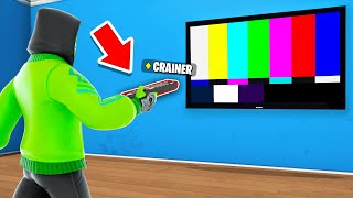 HIDING As A TV REMOTE In Prop Hunt! (Fortnite)