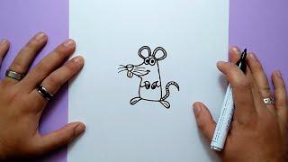 Como dibujar un raton paso a paso 10 | How to draw a mouse 10