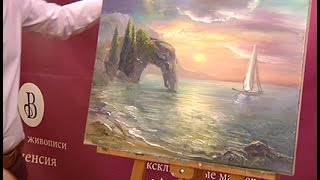 Как нарисовать  морской пейзаж(how to draw a seascape)(ALEXEI MARTYNOV BRINGS YOU THIS VIDEO TUTORIAL IN ENGLISH.ENJOY AND HAVE HAPPINESS FROM WORKING WITH PAINTS! АЛЕКСЕЙ ..., 2016-05-04T21:08:30.000Z)