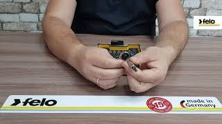 Набор бит SL/PZ/PH и головок с мини трещоткой в кейсе, 18 шт Felo 05771806