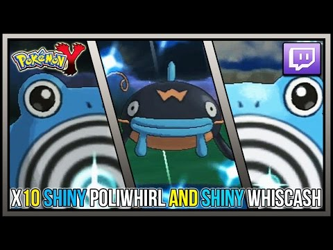 BLINDFOLD Chain Fishing! Live X10 Shiny Poliwhirl And Shiny Whiscash | Pokemon X And Y