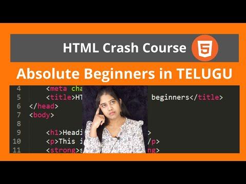 HTML Tutorial- Build A Website Tutorial In TELUGU