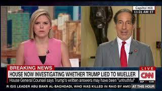 CNN - Raskin Discusses Impeachment Investigation Updates