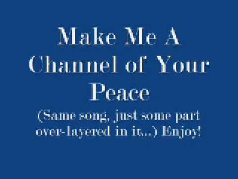 Make Me a Channel of Your Peace Lyrics