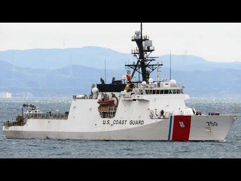 USCGC Bertholf arrives in Yokosuka Japan Feb 8, 2019 アメリカ沿岸警備隊 バーソルフ 横須賀入港