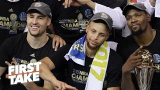 Klay Thompson is tired of getting Steph and KD's