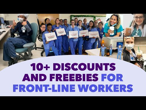 Where to Find Discounts and Freebies for Front-Line and Health Care Workers