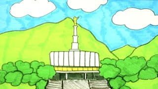 How To Draw The Provo, UT LDS Temple | Kids Coloring Video