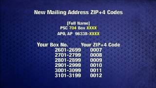New ZIP+4 Codes