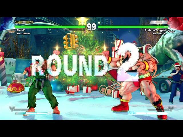 STREET FIGHTER 5 ElvisX vs. SinisterTangent