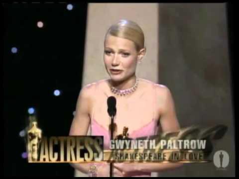 Gwyneth Paltrow winning an Oscar® for Shakespeare in Love