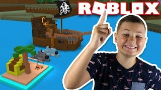 EPIC PIRATE SHIP WITH ISLAND in ROBLOX BUILD A BOAT FOR TREASURE!