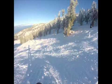 Tree Skiing at Heavenly, South Lake Tahoe, January 2016