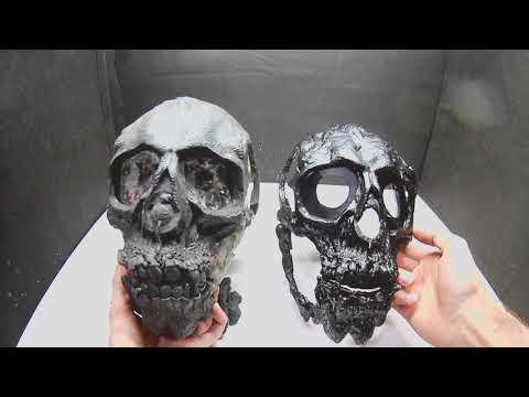 DIY  mask of paper | paper mache | Halloween | Skull