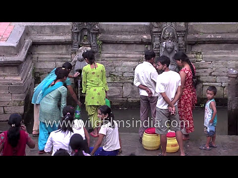 Women of Nepal at traditional drinking water system in Kathmandu