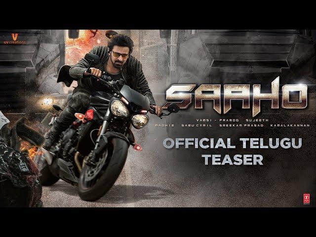 Saaho Official Teaser : Telugu   Prabhas   Shraddha Kapoor   Sujeeth   UV Creations   #SaahoTeaser