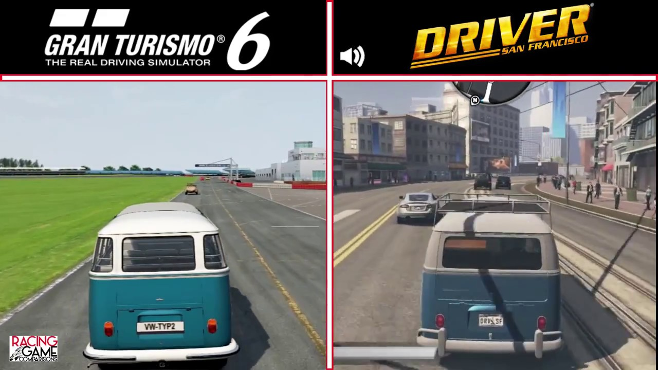 gran turismo 6 vs driver san francisco volkswagen bus graphics sound comparison youtube gran turismo 6 vs driver san francisco volkswagen bus graphics sound comparison