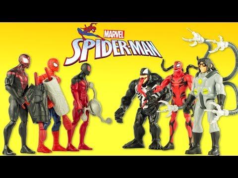 Spider-Man Transformé en Carnage Figurines Marvel Gentils contre Méchants Jouets Toy Review Hasbro