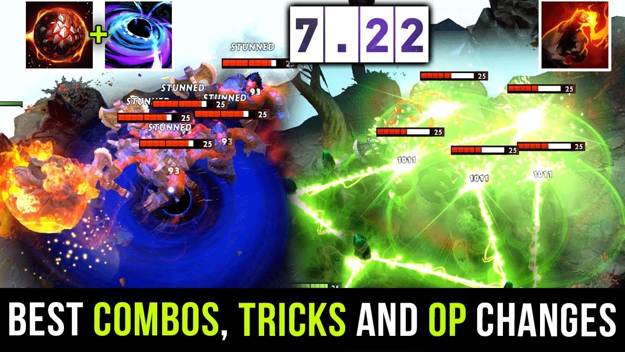 Most Op Imba Combos Best Tricks Tips 7 22 Patch Dota 2 Youtube