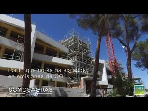 montaje de paneles grc en fachadas somosaguas club