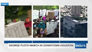 Huge crowds gather in downtown Houston to march in honor of George Floyd
