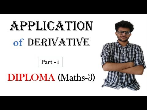 Application of derivative in Hindi