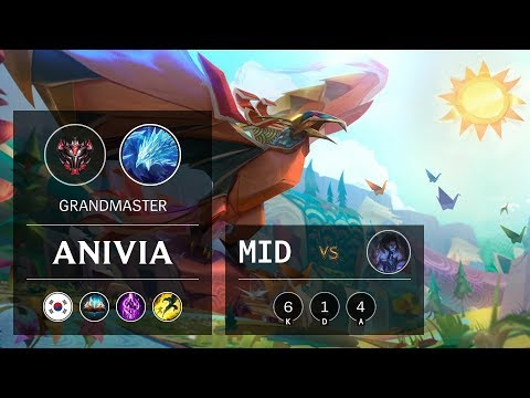 Anivia Mid Vs Sylas - KR Grandmaster Patch 9.10