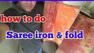 After dryclean/washing sparkle/press diamond silk saree iron perfectly & hindi tips .