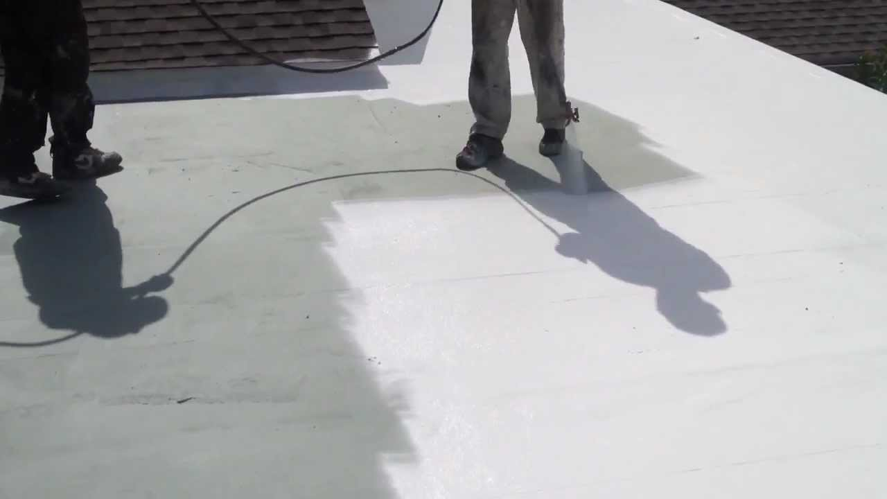 Elastomeric Roof Coating Install Youtube