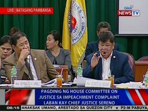 Pagdinig ng House Committee on Justice sa impeachment complaint laban kay CJ Sereno