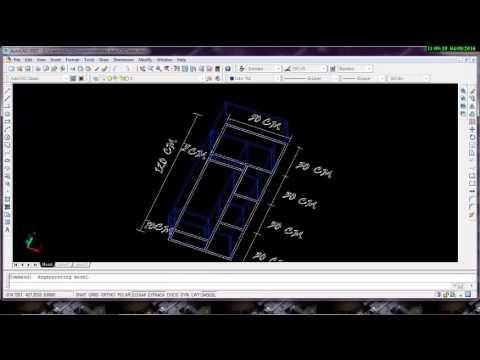 cara membuat gambar menjadi 3D di AutoCAD 030 - YouTube